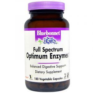 Вегетарианские ферменты, Enzymes, Bluebonnet Nutrition, 180 капсул (Default)