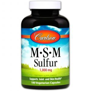 Метилсульфонилметан МСМ, Carlson Labs, 180 капсул