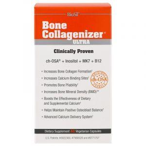 Коллагенайзер для костей, Bone Collagenizer Matrix, Natural Factors, BioSil, 40 капсул (Default)
