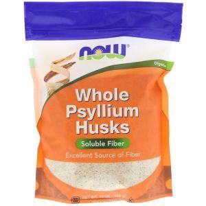 Подорожник (Whole Psyllium Husks), Now Foods, 454 гр. (Default)