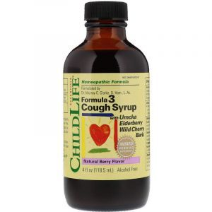 Сироп от кашля, Cough Syrup, ChildLife, ягодный вкус, без спирта, 118.5 мл (Default)