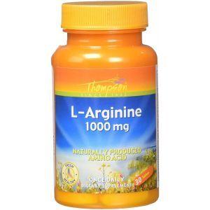 L-Аргинин, L-Arginine, Thompson, 1000 мг, 30 таблеток