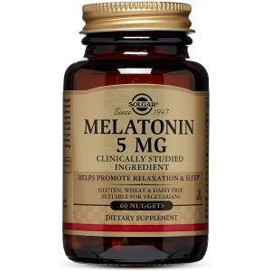 Мелатонин, Melatonin, Solgar, 5 мг, 60 таблеток