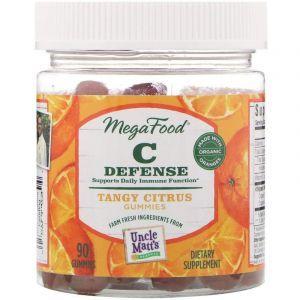 Витамин С, C Defense, MegaFood, 90 жевательных конфет