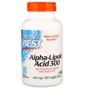 Альфа-липоевая кислота, Alpha-Lipoic Acid, Doctor's Best, 300 мг, 180 кап. (Default)