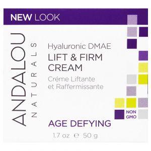 Крем для лица, Andalou Naturals, с гиалуроновой кислотой, (50 мл)