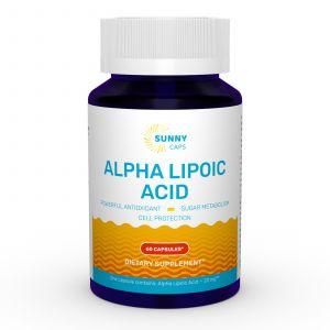 Альфа-липоевая кислота, Alpha-Lipoic Acid Powerfull, Sunny Caps, 60 капсул