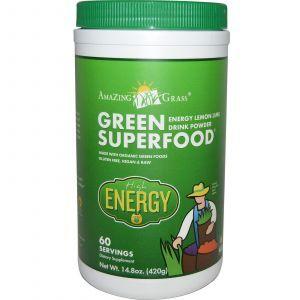 Зеленая пища (лимон), Энергия, Amazing Grass, 240