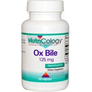 Экстракт бычьей желчи, Nutricology, 125 мг, 180 капс