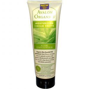 Крем для бритья (алоэ), Avalon Organics, 227 мл