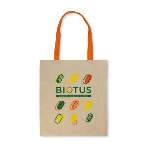 Эко-сумка с оранжевыми ручками, Biotus, 1 шт