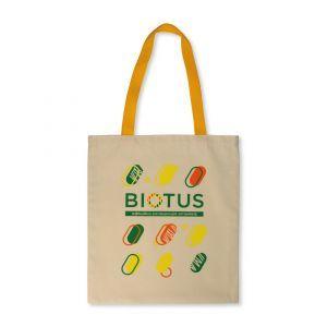Эко-сумка с желтыми ручками, Biotus, 1 шт