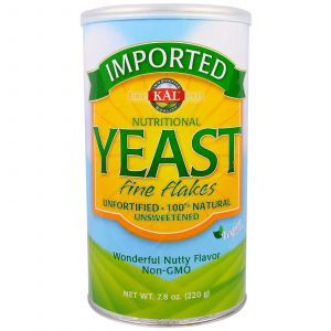 Пищевые дрожжи, Nutritional Yeast, Fine Flakes, KAL, 220 г