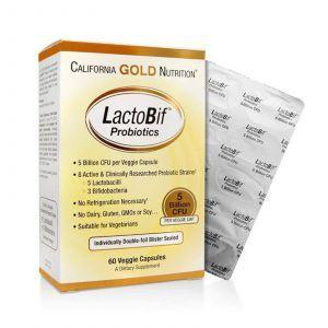 Пробиотик California Gold Nutrition, 5 млд, 60 капсул