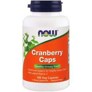 Клюква в капсулах, Cranberry, Now Foods, экстракт, 100 кап