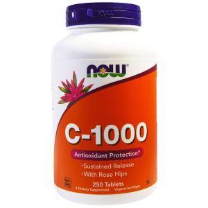 Витамин С-1000, Now Foods, 250 таблеток