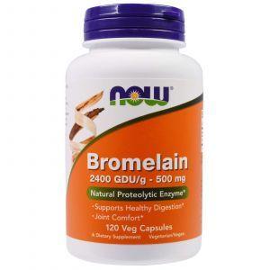Бромелайн, Bromelain, Now Foods, 500 мг, 120 капс