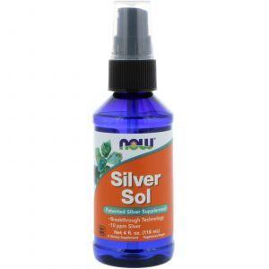 Гидрозоль серебра спрей, Silver Sol, Now Foods, 118 м