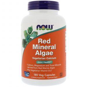 Красные водоросли, Red Mineral Algae, Now Foods, 180 капс