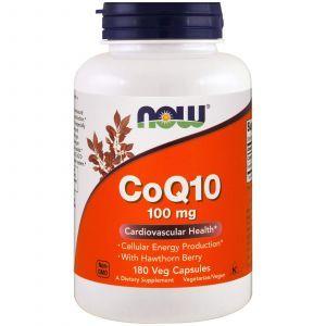 Коэнзим Q10 (CoQ10), Now Foods, 100 мг, 180 кап