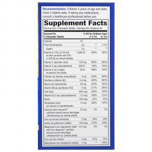Витамины для детей Alive! со вкусом апельсина и ягод, Multi-Vitamin, Nature's Way, 120 жевательных табле