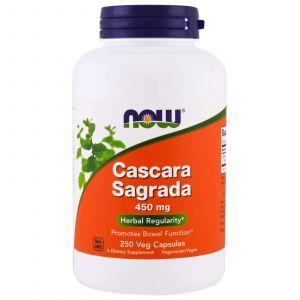 Каскара саграда, Cascara Sagrada, Now Foods, 450 мг, 250 капс