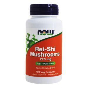Грибы рейши, Rei-Shi Mushrooms, Now Foods, 270 мг, 100 к