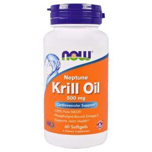 Масло криля, Krill Oil, Now Foods, 500 мг, 60 капс
