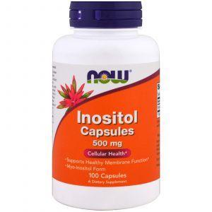 Инозитол, Inositol, Now Foods, 500 мг, 100 капс