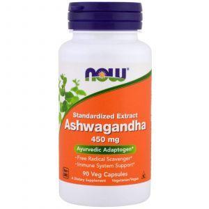 Ашваганда, Ashwagandha, Now Foods, 450 мг, 90 кап
