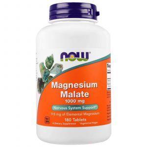 Магния малат, Magnesium Malate, Now Foods, 1000 мг, 180 таблет