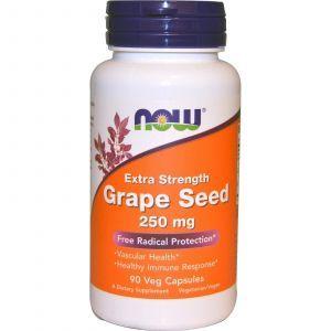 Экстракт виноградных косточек (Grape Seed), Now Foods, 250 мг, 90