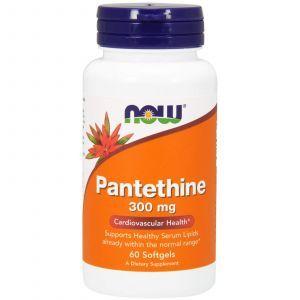 Пантетин, Pantethine, Now Foods, 300 мг, 60 капсу