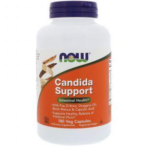 Противокандидное средство, Candida Support, Now Foods, 180 капс