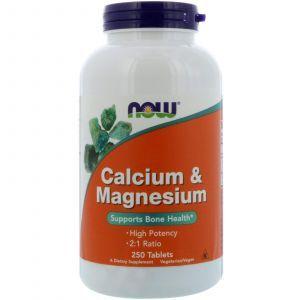 Кальций и магний, Calcium & Magnesium, Now Foods, 250 табле