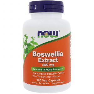 Босвелия (Boswellia), Now Foods, экстракт, 250 мг, 120 кап