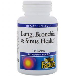 Поддержка легких и бронхов, Lung, Natural Factors, 45 та