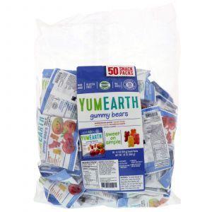 Мармеладные мишки, Gummy Bears, YumEarth, ассорти вкусов, 50 упаковок по 19.8