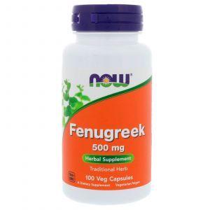 Пажитник, Fenugreek, Now Foods, 500 мг, 100 капс