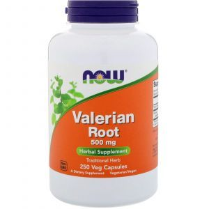 Корень Валерианы, Valerian Root, Now Foods, 500 мг, 250 капсу