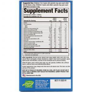 Витамины для детей, Multi-Vitamin, Hero Nutritional, Мишки Ямми, фруктовый вкус, 90