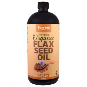 Льняное масло, Flax Seed Oil, Jarrow Formulas, органик, 946 мл