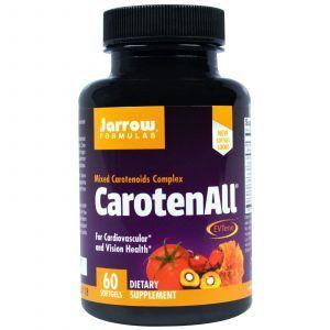 Каротиноиды, Carotenoids, Jarrow Формулы, комплекс, 60 капс