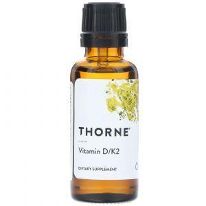 Витамин Д и К2, Vitamin D/К2, Thorne Research, 30 мл