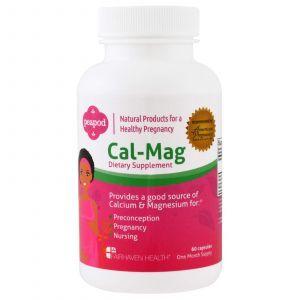 Кальций и магний перед и после родов, Cal-Mag, Fairhaven Health, 60 кап.