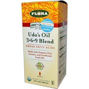 Льняное масло, Flora, 946 мл