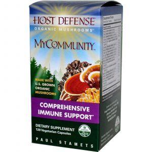 Защита иммунитета, Host Defense, Fungi Perfecti, 120 капc.