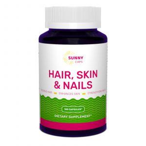 Комплекс кожа, волосы, ногти, Hair, Skin & Nails Complex Powerfull, Sunny Caps, 100 капсул