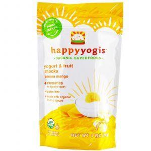 Живой йогурт банан, манго, Yogurt & Fruit Snacks, Banana Mango, Nurture Inc, 28 г