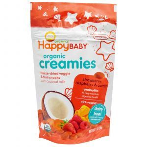 Вегетарианский йогурт клубника, малина, морковь, Strawberry, Raspberry & Carrot, Nurture Inc, 28 г